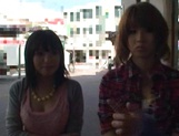 AV models Nami, Nagisa, and Midori ride and suck cock picture 8