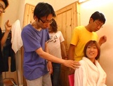 Hot chick in glasses Mion Ayase enjoys hardcore group sex