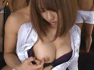 Hot Asian milf Narumi Ayase experienced hot gang bang