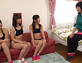 Foursome session with sexy Asian teens