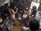 Hot Asian bimbos enjoying a worthy group sex picture 9
