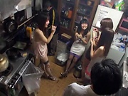 Hot Asian bimbos enjoying a worthy group sex