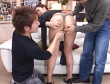 Sexy milf Maki Mizusawa gets her horny pussy explored by a group pf guys