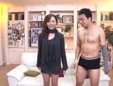 Sexy milf Maki Mizusawa gets her horny pussy explored by a group pf guys