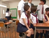 Horny Japanese teen gals get teased and fucked by their classmates