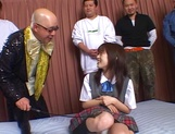 Nice Asian schoolgirl with pretty face Hikaru Hozuki in a wild gang picture 3