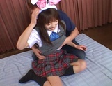 Nice Asian schoolgirl with pretty face Hikaru Hozuki in a wild gang picture 7