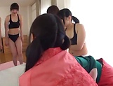 Wonderful lesbian group sex of pure lust