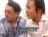 Serious gangbang with busty Asian Mion Ayase picture 11