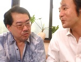 Serious gangbang with busty Asian Mion Ayase picture 12