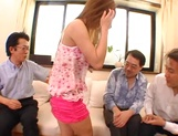 Serious gangbang with busty Asian Mion Ayase picture 13