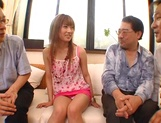 Serious gangbang with busty Asian Mion Ayase picture 14