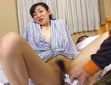 Japanese mature joins in a hot group sex session