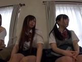 Horny schoolgirl Ryouka Asakura involved into a crazy group sex party