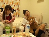 Asian teens in amateurs hardcore group sex adventure picture 15