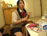Japanese schoolgirls gone wild on strong cock picture 2
