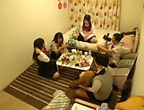 Japanese schoolgirls gone wild on strong cock picture 4