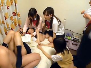 Asian teens in amateurs hardcore group sex adventure