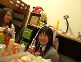 Amateur gangbang porn show with horny Asian schoolgirls picture 10