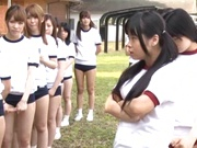 Juicy schoolgirls enjoy a kinky exhibitionism lesson