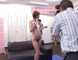 Akari Asahina sensual Asian milf in hot threesome in public picture 6
