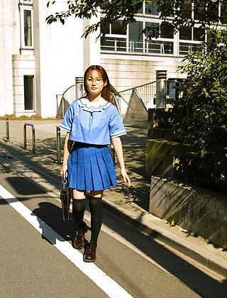 Hayakawa Saki Poses In Her School Uniform And Masturbates