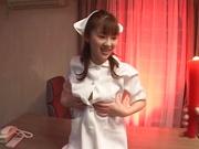 Horny teen nurse Mari Yamada has sex with her horny doctor enjoy hot wax