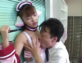 Hardcore cosplay sex with a steamy Japanese doll, Mari Yamada picture 12