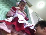 Hardcore cosplay sex with a steamy Japanese doll, Mari Yamada picture 14