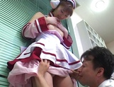 Hardcore cosplay sex with a steamy Japanese doll, Mari Yamada picture 15