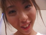 Peachy tits amateur babe, Kanako Enoki blows cock; and gets fucked in POV