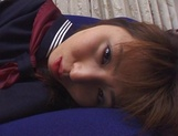 Japanese schoolgirl, Kanako Enoki plays with vibrator on cam picture 2