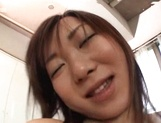Comely Japanese teen shows off in amateur hardcore scene picture 88