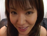 Arousing Japanese hottie with big tits gets tit fucked picture 14