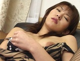Amazing Japanese chick in hot solo pussy show picture 11