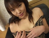 Amazing Japanese chick in hot solo pussy show