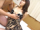 Risque Japanese milf enjoys sensual time in her sexy stockings