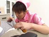 Wild Asian nurse enjoys serving her horny patients