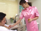 Wild Asian nurse enjoys serving her horny patients