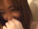 Sexy teen, Moe Otake, with hairy pussy and small tits rides cock in a toilet