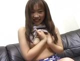 Sweet Asian Moe Otake in nice lingerie experiences fingering