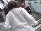Mischievous Japnese teen, Riho Mishima, gives a blowjob in a toilet on pov picture 13