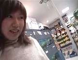 Mischievous Japnese teen, Riho Mishima, gives a blowjob in a toilet on pov picture 41