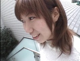 Mischievous Japnese teen, Riho Mishima, gives a blowjob in a toilet on pov picture 5