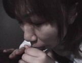 Mischievous Japnese teen, Riho Mishima, gives a blowjob in a toilet on pov picture 62
