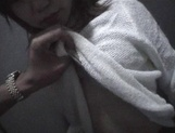 Mischievous Japnese teen, Riho Mishima, gives a blowjob in a toilet on pov picture 65