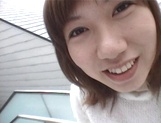 Mischievous Japnese teen, Riho Mishima, gives a blowjob in a toilet on pov picture 6