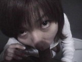 Mischievous Japnese teen, Riho Mishima, gives a blowjob in a toilet on pov picture 72