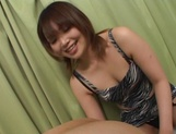 Brave Japanese teen, Ako Ishida, gives a foot job and arranges a kinky action picture 15