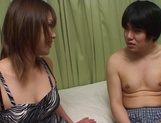 Brave Japanese teen, Ako Ishida, gives a foot job and arranges a kinky action picture 4